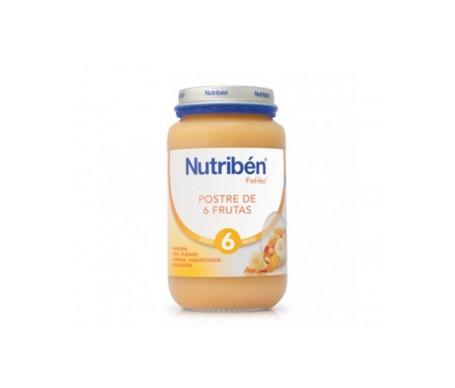 Nutribén® potito® postre de 6 frutas 250g