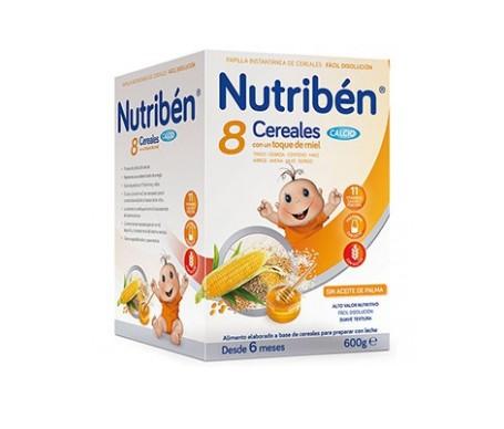 Nutribén® 8 cereales miel y calcio 600g