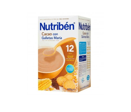 Nutribén™ Cacao and biscuits papilla 600g