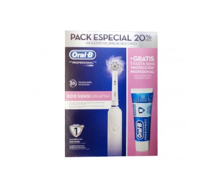 Oral-B ™ Pack brosse à dents 800 sensi ultra mince + dentifrice Pro-Expert multiprotection 50ml
