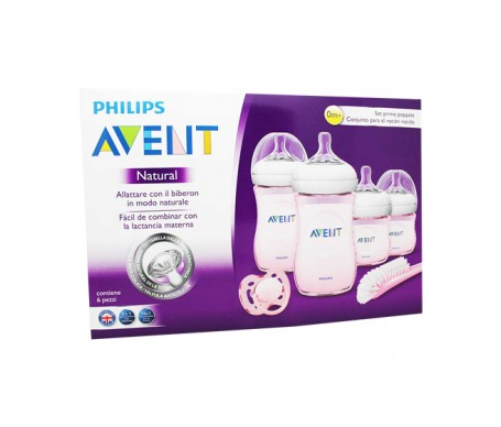 Philips Avent Set de recién nacido gama natural rosa