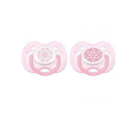 Philips Avent chupete ventilado decorado forma rosa 0-6 meses niña 2uds