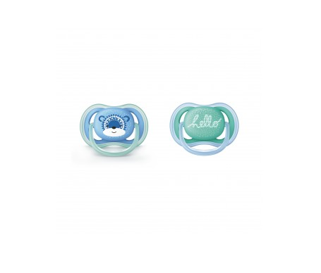Philips Avent  2 chupetes ventilados decorados puntitos 6-18 meses niño