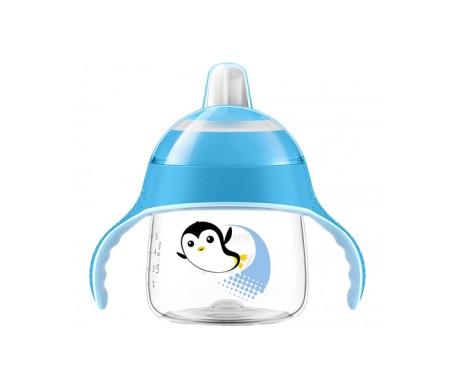 Philips Avent Vasito Pingüino 200ml Azul. Boquilla Blanda