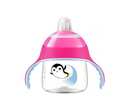 Philips Avent Vasito Pingüino 200ml Rosa. Boquilla Blanda