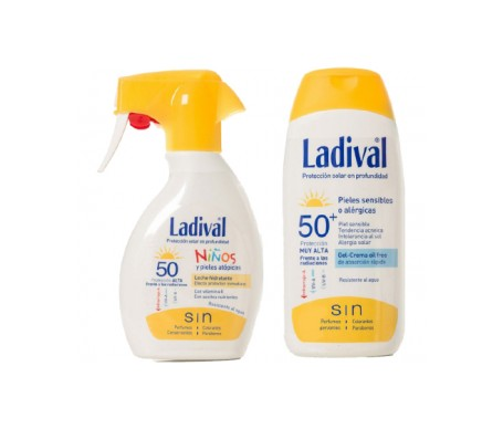 Ladival Pack Protector Niños Spray SPF50+ 200ml + Pieles Sensibles SPF50+ 200ml