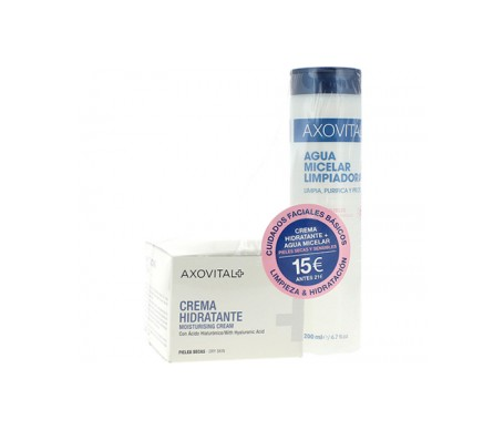 Axovital Pack Crema Hidratante  50ml+ Agua Micelar 200ml