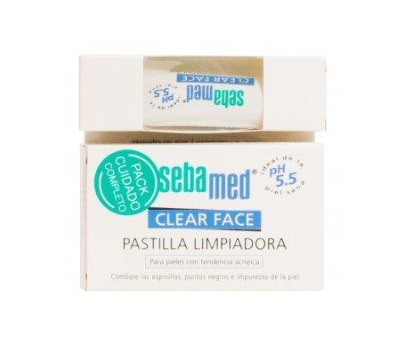 Sebamed® Pastilla Clear Face 100g+Gel Antiespinillas 10ml