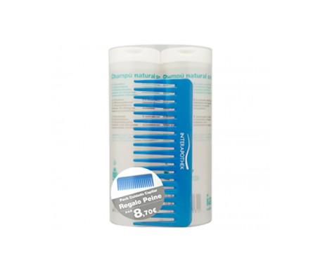 Interapothek Shampoo Pack naturale Zero 2x400ml + pettine blu