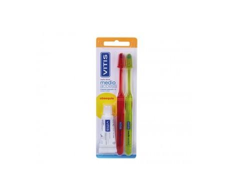Vitis® cepillo dental medio 2uds + obsequio