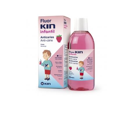 Fluor-Kin Infantil colutorio fresa 500ml