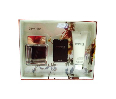 Calvin Klein Pack Euphoria Men Eau De Toilette Spray 100ml + Eau de Toilette Travel 20ml + After Shave 100ml