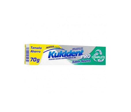 Kukident PROcomplete crema adhesiva sabor neutro 70g