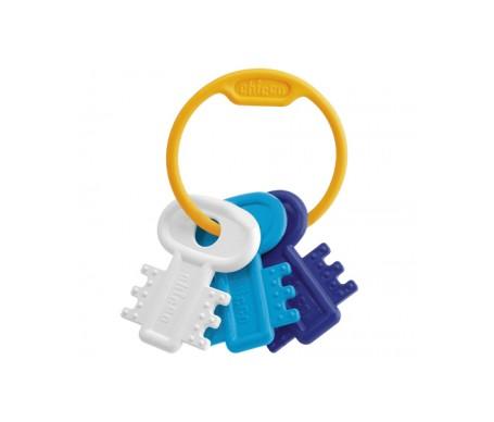 Chicco Sonajero llaves coloreadas azúl y blanco