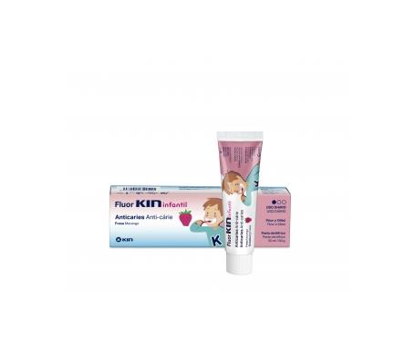 Fluor-Kin Infantil dentífrico fresa 100ml
