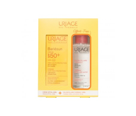 Uriage Bariésun extra crème fluide spf50+ 50ml + eau micellaire 100ml