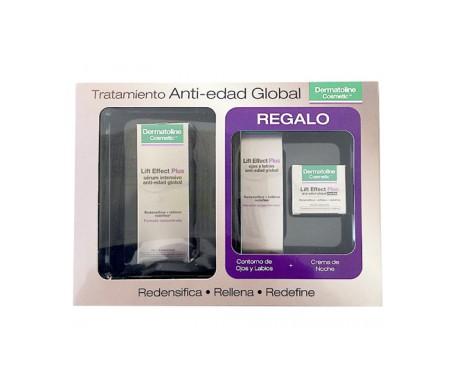 Dermatoline Cosmetic䋢 Effetto sollevamento pacchetto Plus crema notte 50ml + occhi e labbra 15ml + crema notte 15ml omaggio