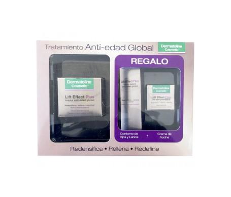 Dermatoline Cosmetic䋢  Pack Anti-Aging Behandlung Globale Creme Trockene reife Haut 50ml + Augen und Lippen 15ml + Nachtcreme 15ml