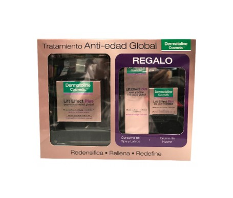 Dermatoline Pack Lift Effect crema antiedad global 50ml+ contorno ojos y labios 15ml+ crema noche 15 ml
