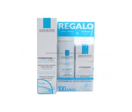 La Roche Posay Pack Hydraphase Intensive Light Moisturising Pack 50ml + Thermal Water 50g + BB Cream 15ml