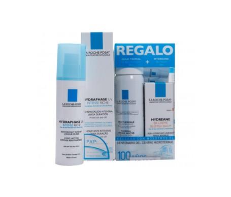 La Roche Posay Pack Hydraphase crema ricca intensiva 50ml + acqua termale 50ml + BB Crema 40ml