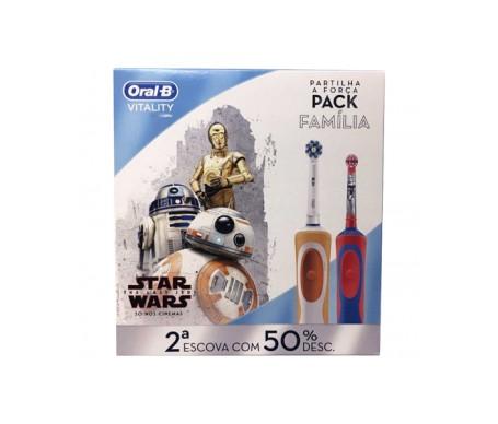 Oral-B™ Family Pack vitalité brosse crossaction + brosse étapes Star Wars