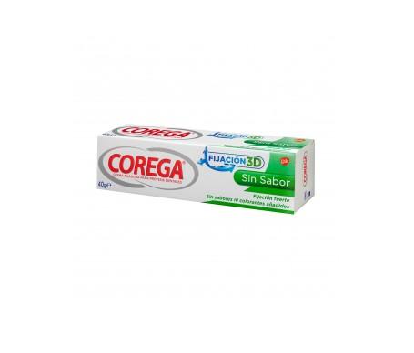 Corega Crema Adhesiva Fijación 3D Sin Sabor 40 G