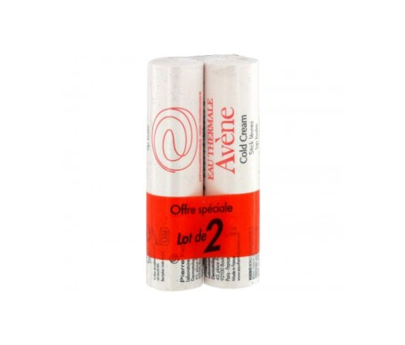 Avène Cold Cream stick labial 2x4g