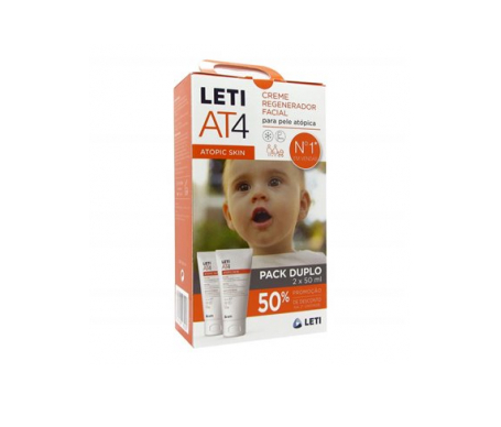 Leti AT4 crema facial 2x50 ml