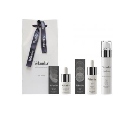 Velandia® Pack Men Navidad crema facial 50ml + sérum 30ml + contorno de ojos 15ml
