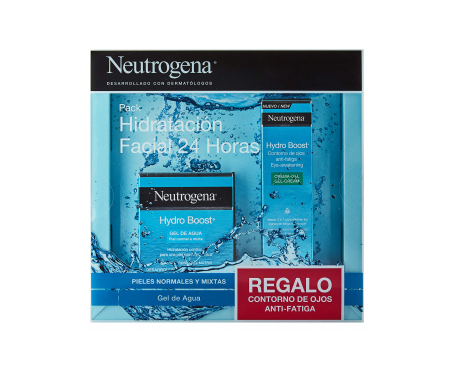 Neutrogena® Pack Hydro Boost® pieles secas/sensibles crema gel 50ml + contorno de ojos anti-fatiga de regalo 15ml
