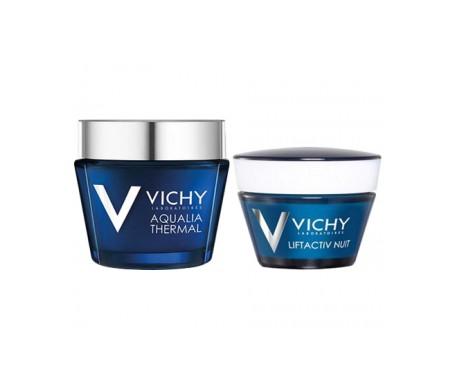 Vichy Liftactiv Nachtcreme 50ml + Feuchtigkeitsbehandlung Aqualia Thermal Spa Nacht 2x15ml