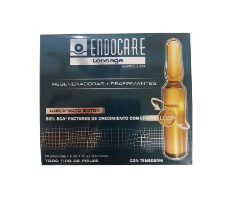 Endocare Tensage Pack Botox effect ampoules 2x20amp