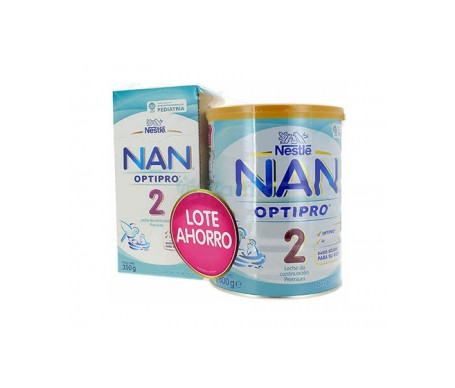 Nestle Nan Optipro 2 Leche Continuacion 800g + 350g
