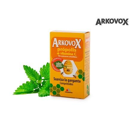 Arkovox própolis + vitamina C sabor menta 24comp
