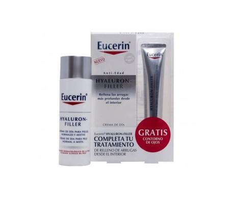 Eucerin™ Hyaluron-Filler Tagescreme normale Haut und Mischhaut 50ml + Augenkontur 15ml