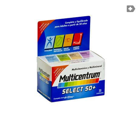 Multicentrum™ Select 50+ 30 comprimés