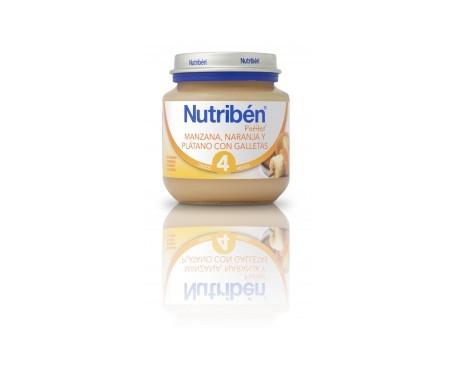 Nutribén® Potito® inicio manzana naranja plátano y galleta 130g