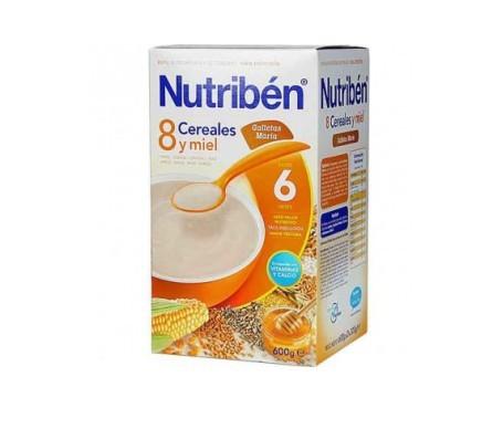 Nutribén® 8 cereales con miel y galletas 600g