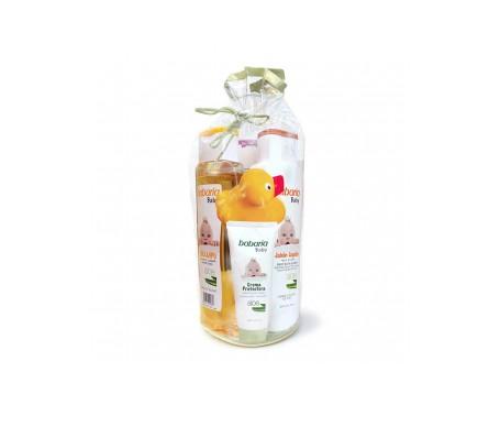 Babaria Baby Champú Aloe + Jabón líquido Suave 600ml + Colonia 250ml