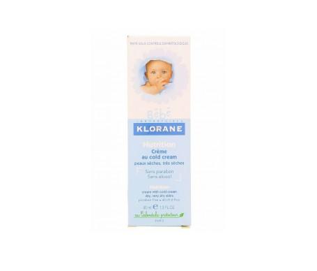 Klorane Bébé crema nutritiva al cold cream 40ml