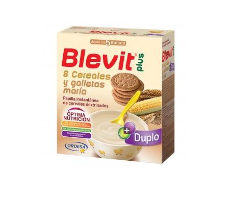 Blevit® plus 8 cereales con miel y galleta María 600g