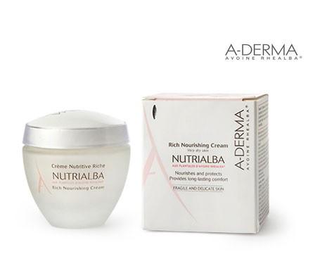 A-Derma Nutrialba ricca crema nutriente per il viso 50ml
