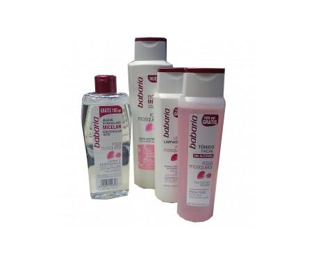 Babaria Rosa Mosqueta Body Milk 400ml+agua Demaquillante 300ml+t