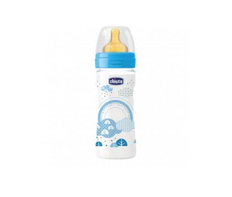 Chicco® biberón plástico boca ancha flujo regulable 250ml