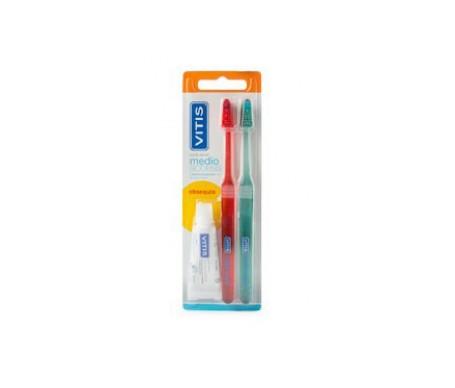 Vitis® Access cepillo dental medio 2uds+obsequio