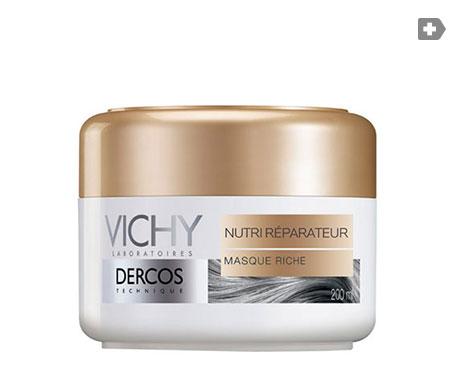 Vichy Dercos ricco nutriente e riparatore maschera per capelli 200ml