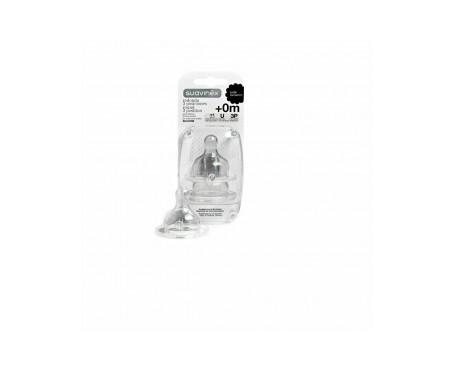 Suavinex® tetina silicona boca ancha 3 Posiciones 2uds