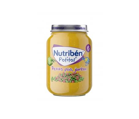 Nutribén® cena crema guisantes tiernos con jamón 200g