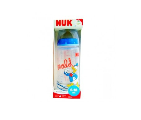 Nuk® biberón Donald tetina silicona 6-18 meses 300ml 1ud